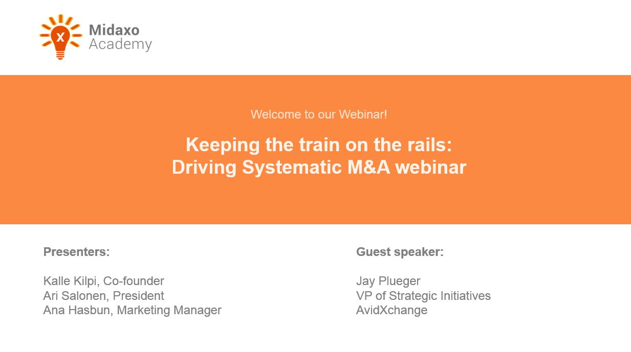 Webinar - Driving Systematic M&A