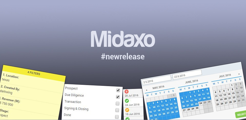 New Features in Midaxo's M&A Software