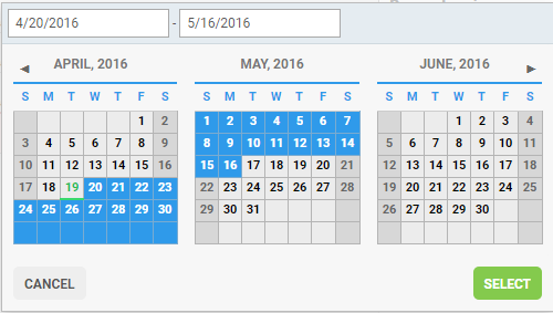 Midaxo software - calendar screenshot