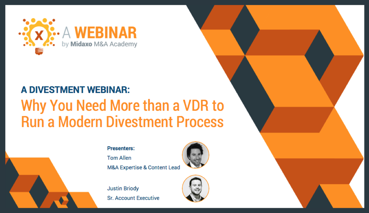 Webinar: Why You Need More than a VDR to Run a Modern Divestment Process